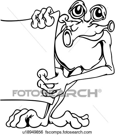 401x470 Clip Art of , alien, announcement, cartoon, science fiction, wacky