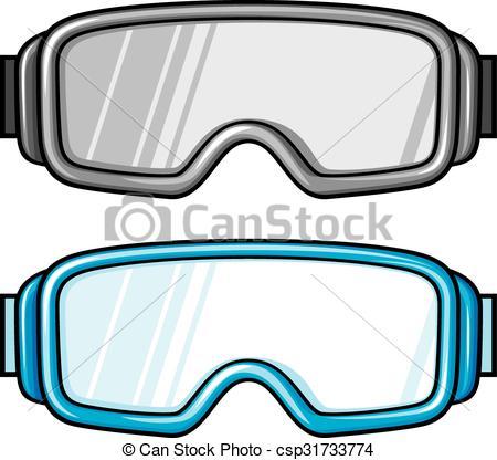 450x416 Goggles Clipart Vector