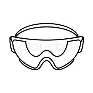 320x320 Laboratory Goggles Icon In Outline Style Isolated On White