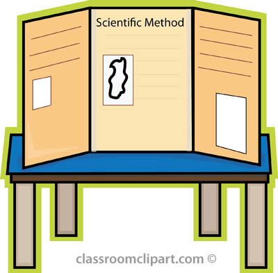 400x393 Free Clipart Science Fair Board