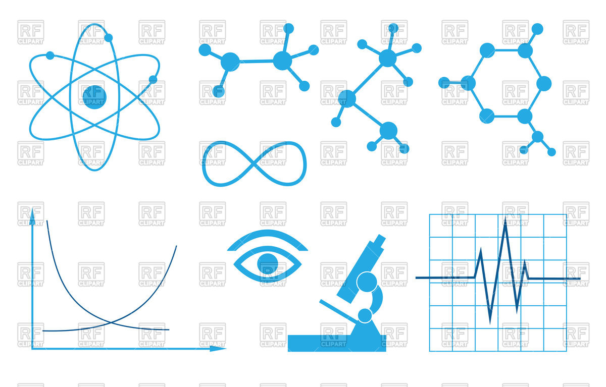 1200x767 Signs Of Science Set Royalty Free Vector Clip Art Image