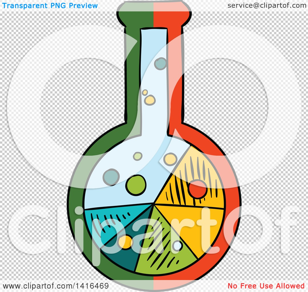 1080x1024 Clipart Of A Sketched Science Flask