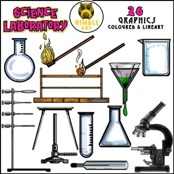 350x350 Science Laboratory Apparatus Clipart By Nimble Art Tpt