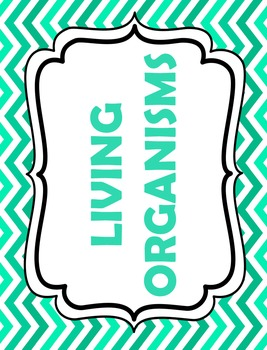 267x350 Living Organisms Word Wall Science Vocabulary Tpt