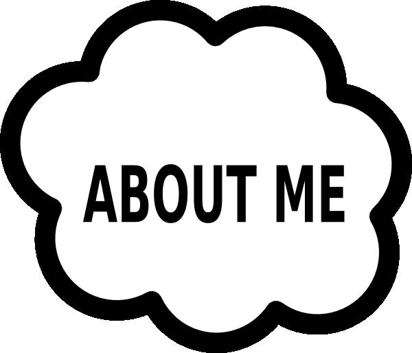 600x514 About Me Cloud Clip Art