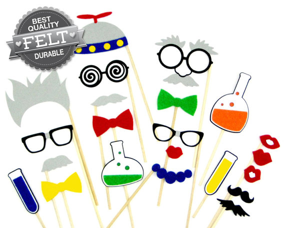 570x456 Science Party Birthday Photo Booth Props By Photopropsetc