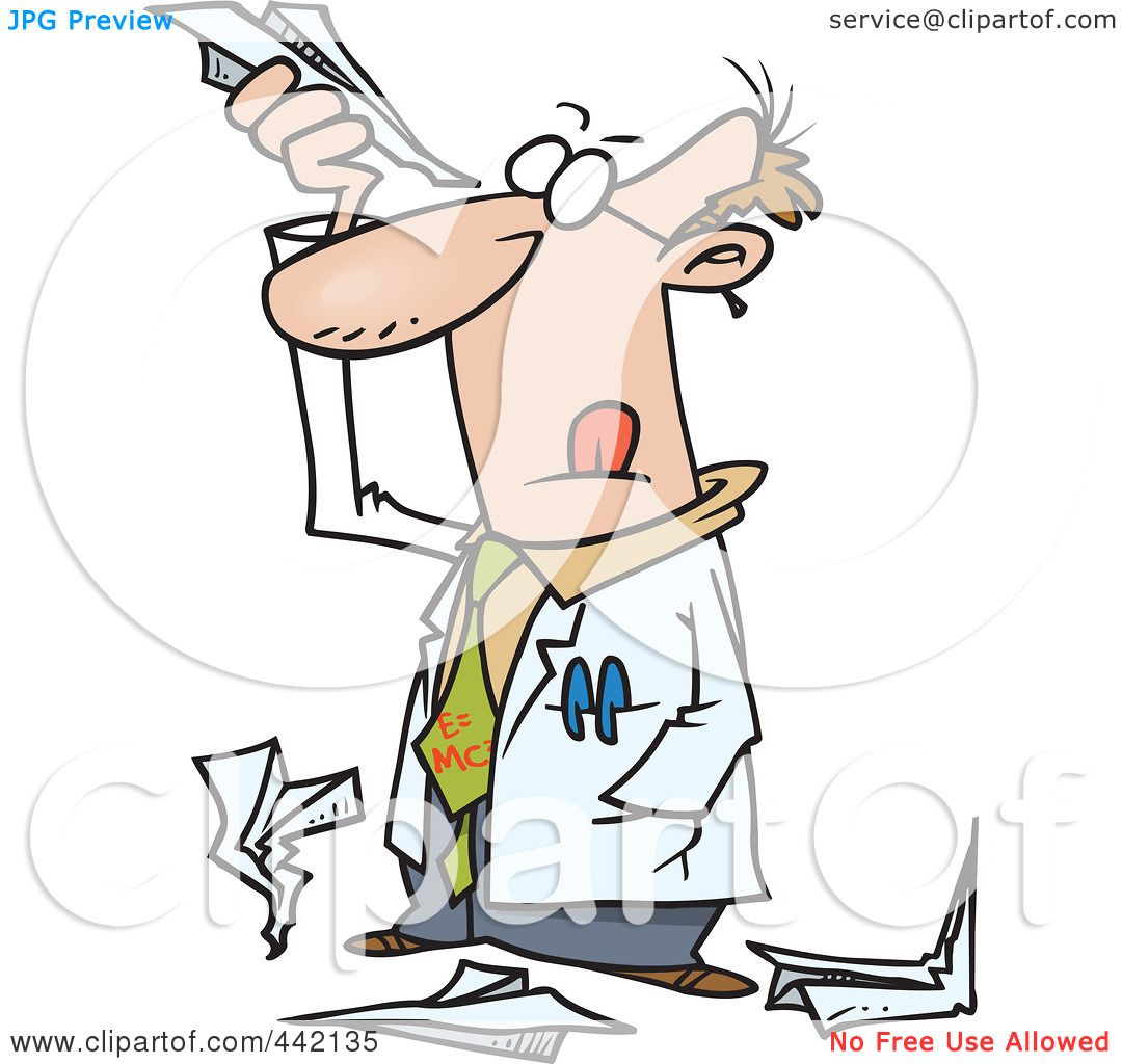 1080x1024 Royalty Free (Rf) Clip Art Illustration Of A Cartoon Scientist