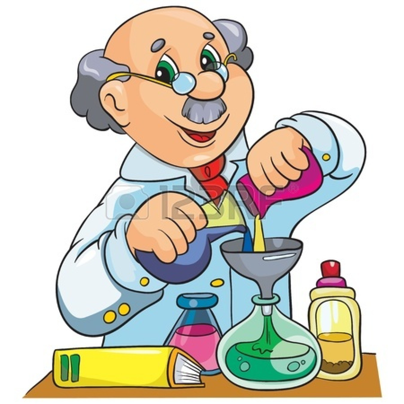 1350x1350 Cartoon Scientist Clipart