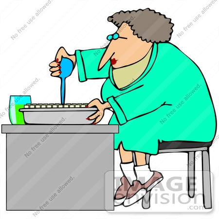 450x450 Clip Art Graphic Of A Scientist Squirting Liquid Into Sample Tubes