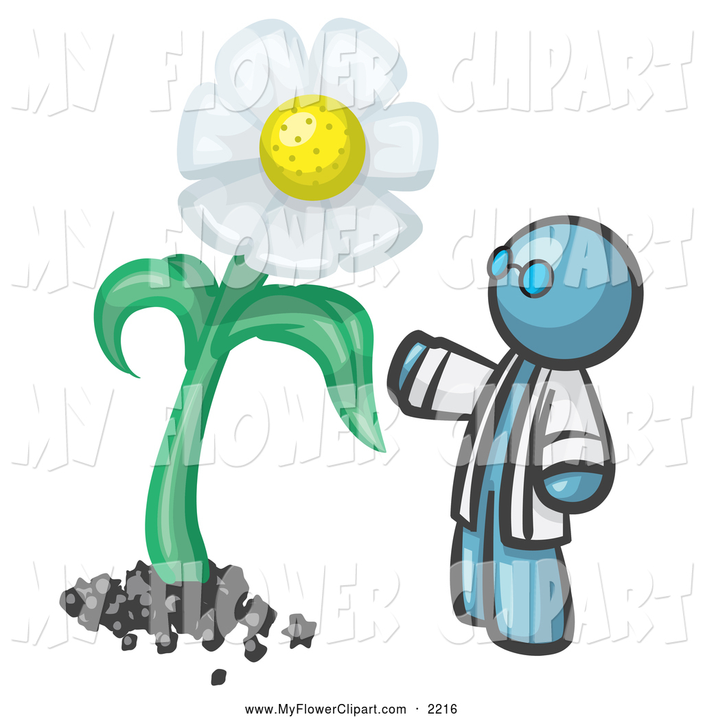 1024x1044 Clip Art Of A Denim Blue Man Scientist Presenting A Giant White