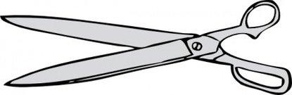 415x135 Scissors Clip Art, Vector Scissors