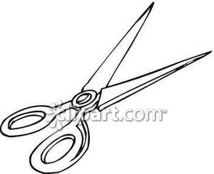300x245 School Scissors Clipart Black And White Clipart Panda