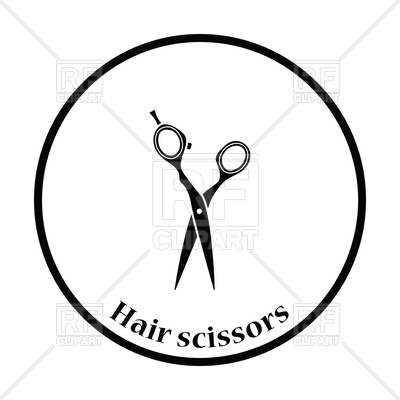 400x400 Hair Scissors Icon Royalty Free Vector Clip Art Image