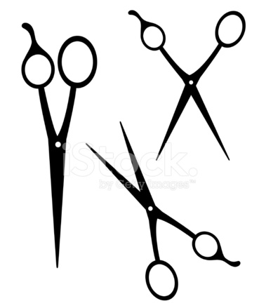 369x439 Scissors Silhouettes With Adjustable Blades Isolated On White