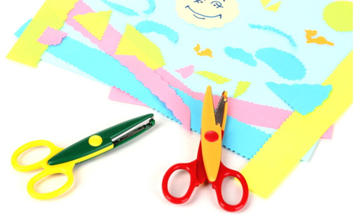 Scissors Cutting Paper Clipart