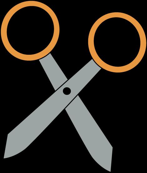 470x553 Orange Scissors Clip Art