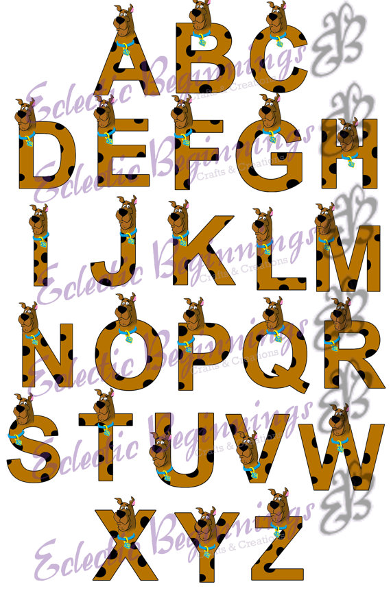 570x865 Alphabet Png Digital File Diy Print Clip Art Scooby Doo