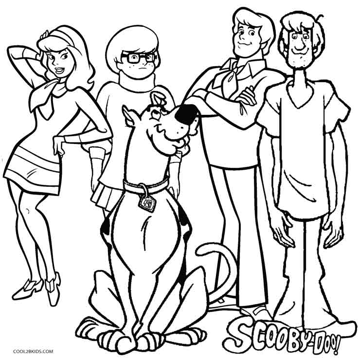 736x736 Marvelous Scooby Doo Coloring Page 67 For Line Drawings With