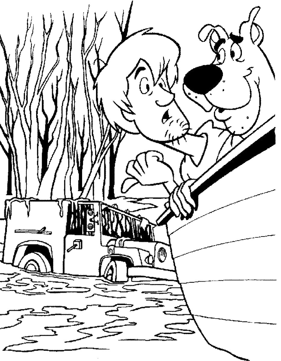 Scooby Doo Outline | Free download best Scooby Doo Outline on ...