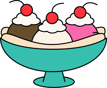 443x365 Ice Cream Clipart Banana Split
