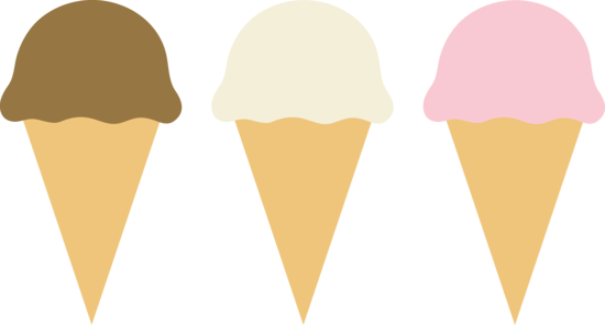 550x296 Three Ice Cream Cones