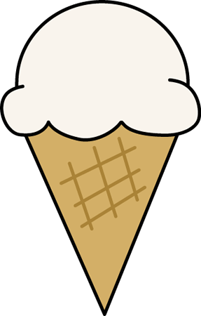 287x450 Vanilla Ice Cream Cone Clip Art