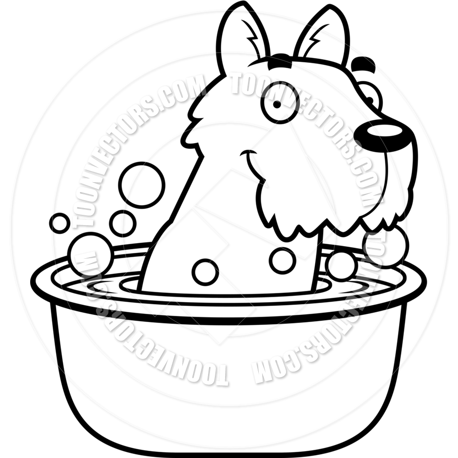 Scottie Dog Clipart | Free download best Scottie Dog Clipart on ... for Bath Clipart Black And White  565ane