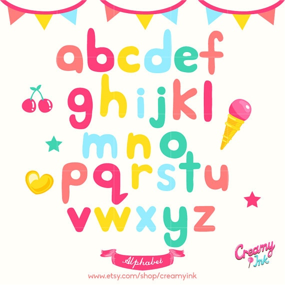 570x570 Alphabet Digital Vector Clip Art Alphabets Digital Clipart
