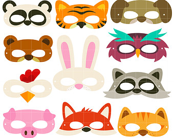 340x270 Animal Mask Clipart