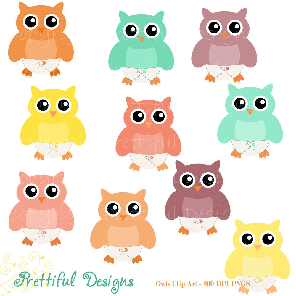 1000x1000 Baby Owl Clip Art Diaper Owl Clipart Digital Scrapbooking Cu