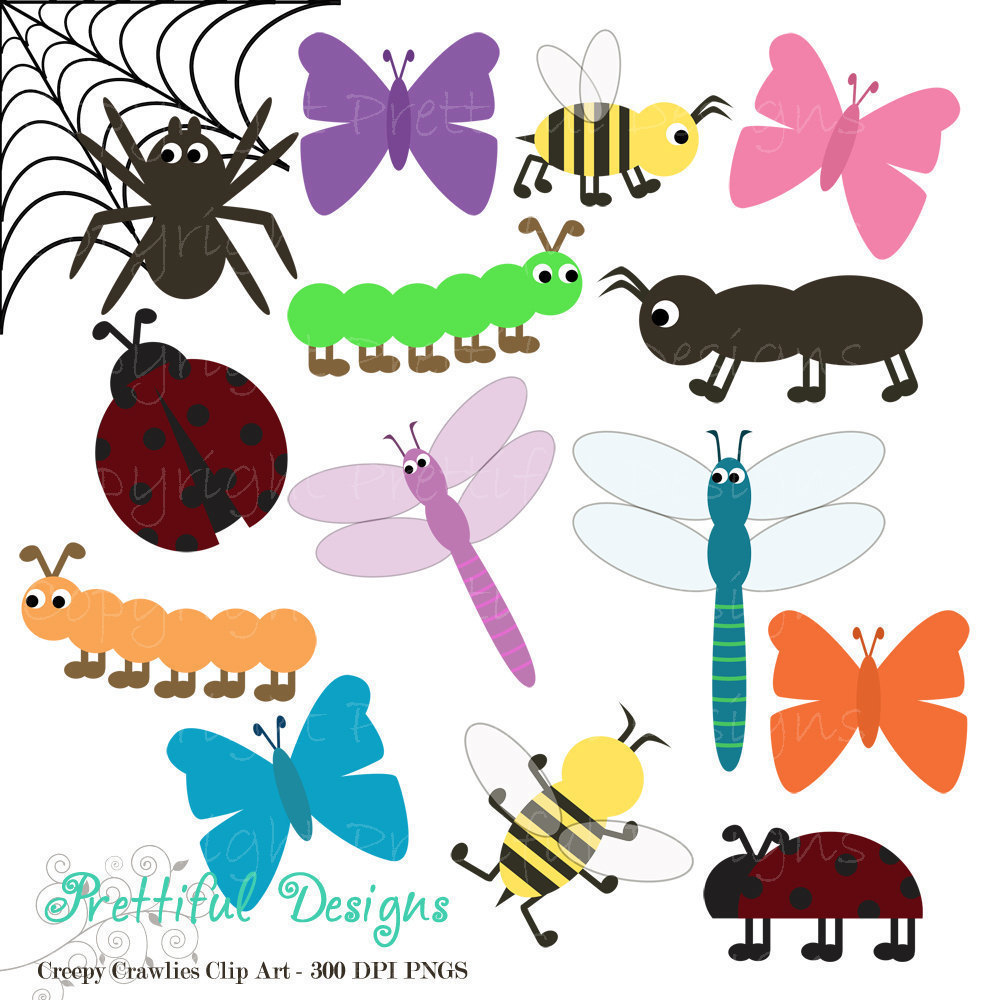 1000x1000 Bug Clip Art For Digital Scrapbooking Invitations Paper