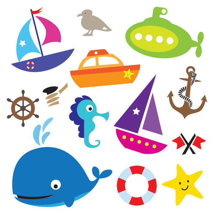 700x700 Nautical Sea Design Elements Transportation Digital Clip Art