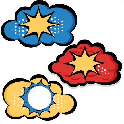 432x432 Superhero Clouds Svg Cutting Files For Scrapbooking Superhero