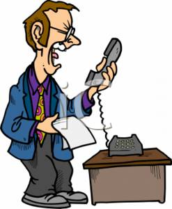 247x300 Clipart Of A Businessman Screaming Into The Phone