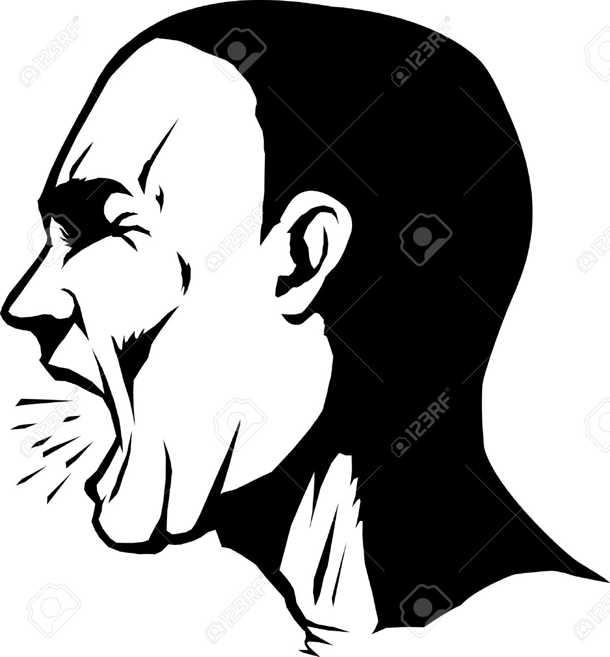 1206x1300 Clipart Screaming Man Collection