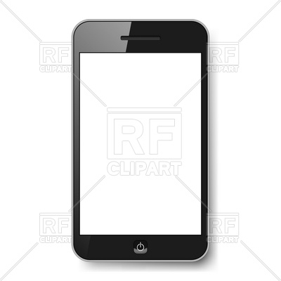 400x400 Smartphone Template With Empty White Screen Royalty Free Vector