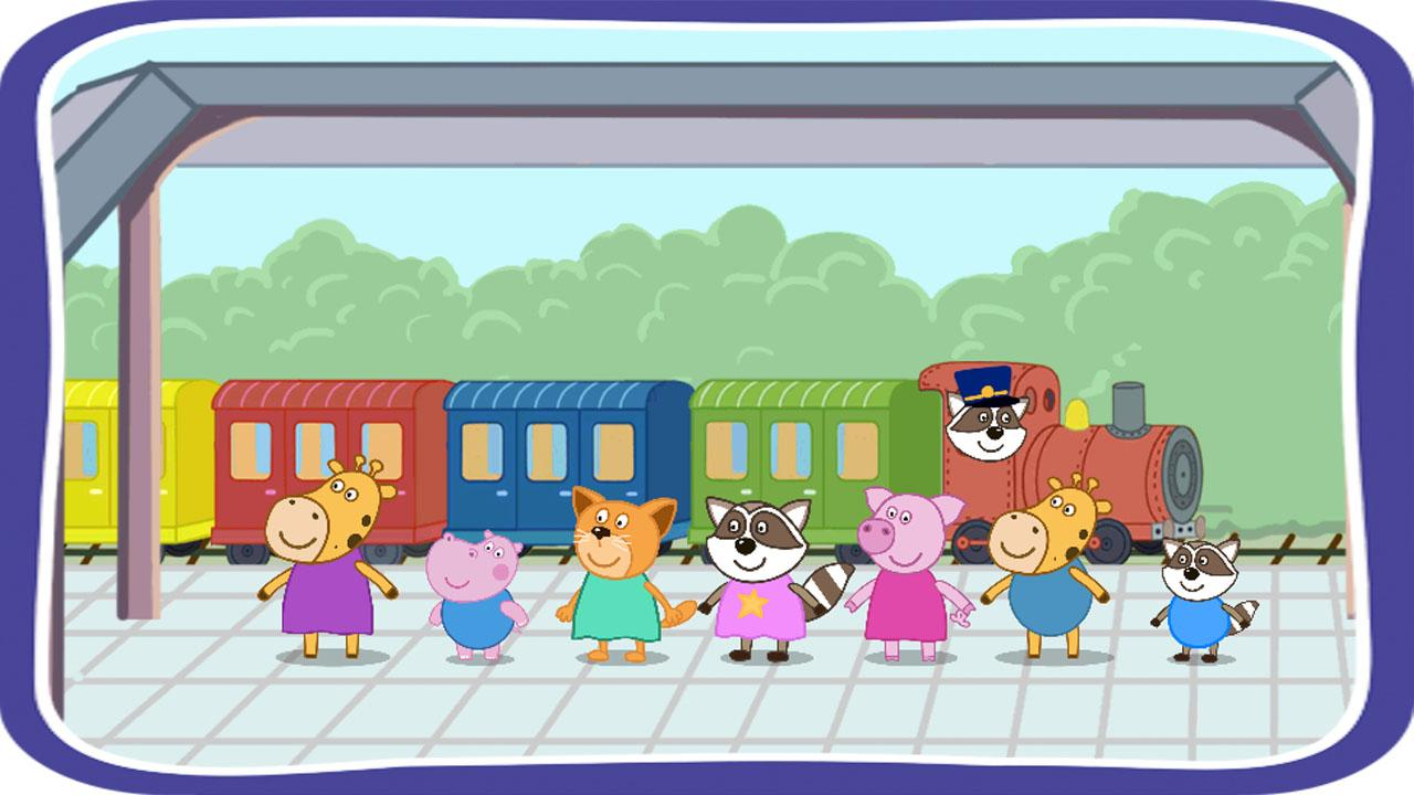 1280x720 Railway Station Clipart Green Train