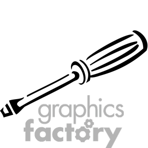 300x300 Black Clipart Screwdriver