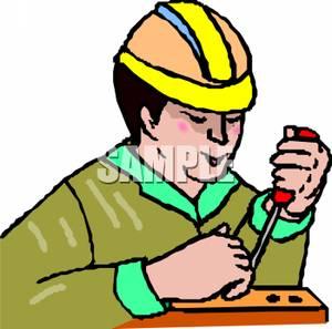 300x297 Worker Using A Screwdriver
