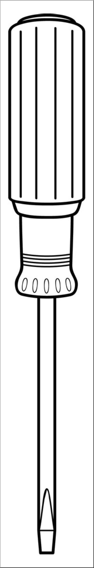 304x1831 Clip Art Tools Screwdriver Bampw I Abcteach