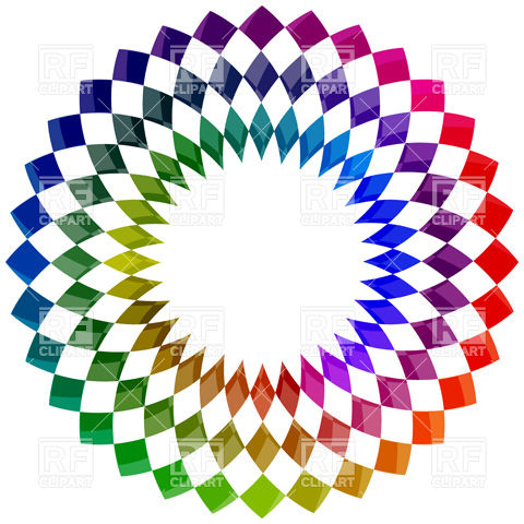 480x480 Cmyk Scribble Circle Drawn With Pencil Royalty Free Vector Clip