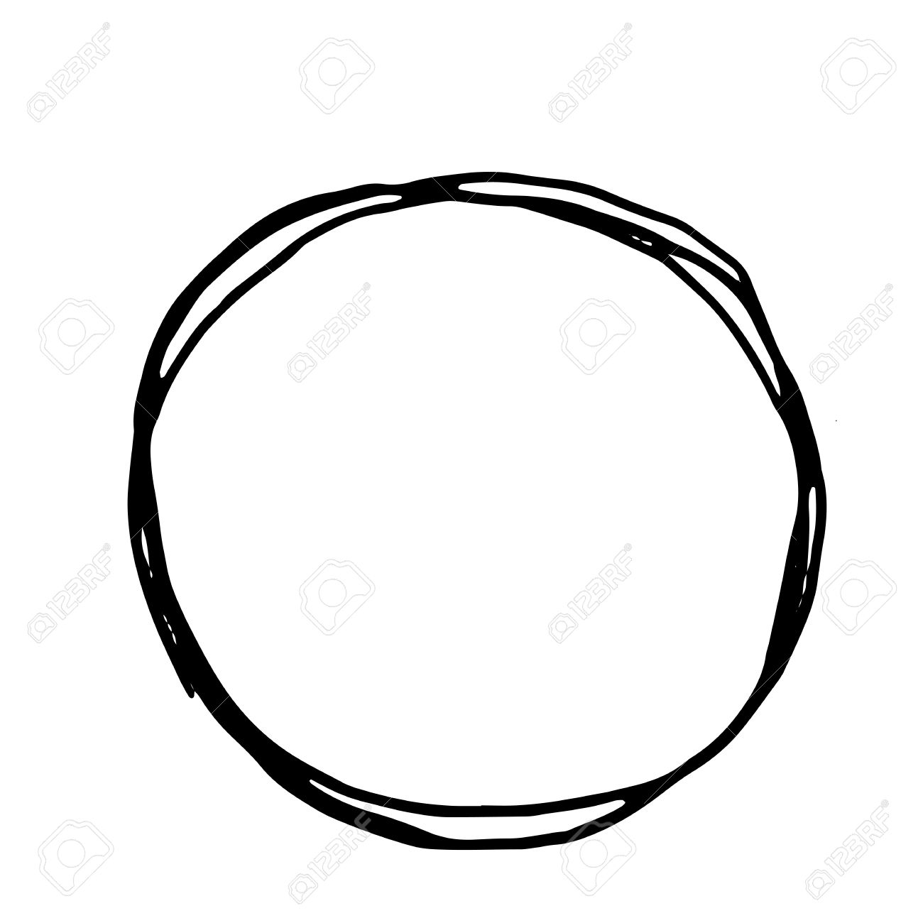 1300x1300 Circle Clipart Hand Drawn