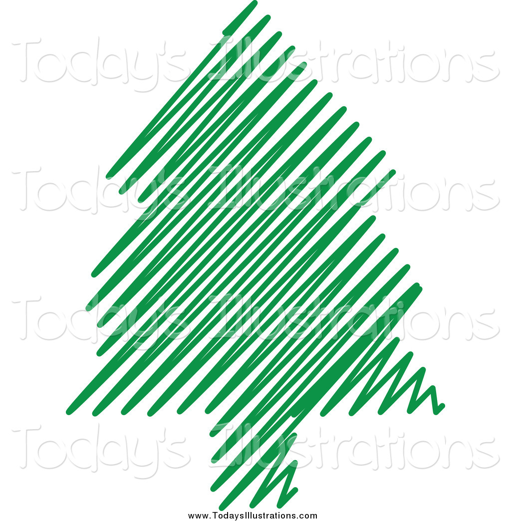 1024x1044 Clipart Of A Green Scribble Christmas Tree By Kj Pargeter