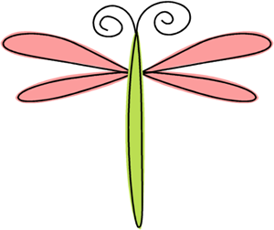 300x252 Scribble Dragonfly Clip Art