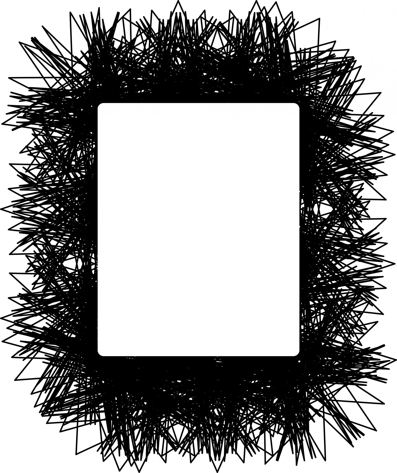 1610x1920 Scribble Frame Free Stock Photo