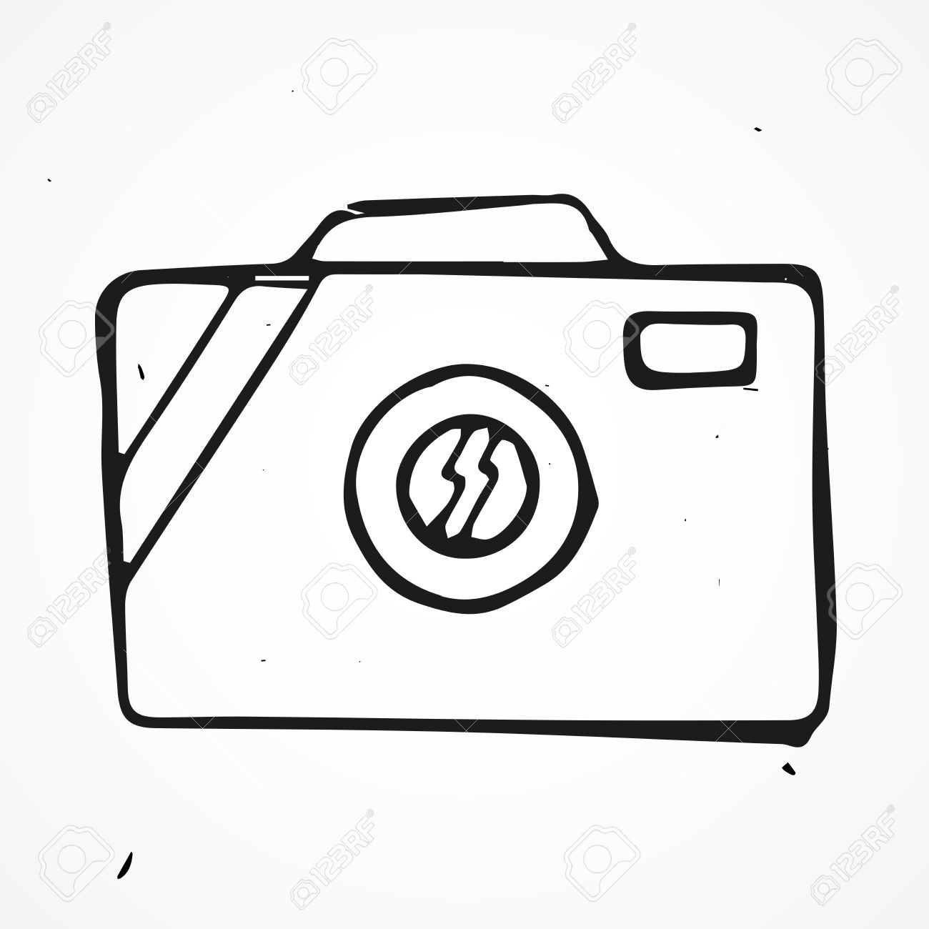 1300x1300 Scribble Hand Drawn Camera Icon, Doodle Vector Royalty Free
