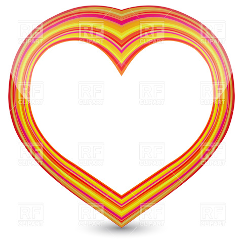 480x480 Two Red Hearts On Scribble Background Royalty Free Vector Clip Art