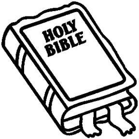 288x288 Bible Clipart Free Black And White