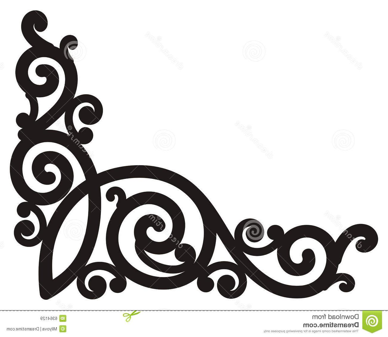 1300x1130 Best Free Scroll Vector Clipart Corner Clip Design