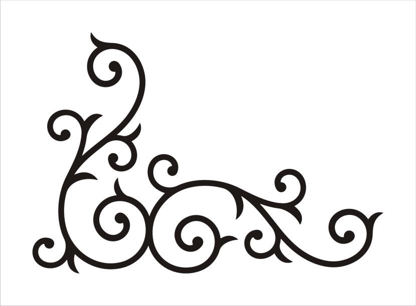 830x611 Free Scroll Patterns Clip Art